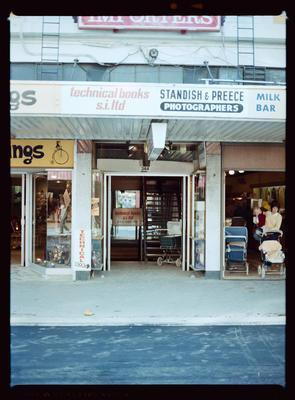 Negative: Standish & Preece Shopfront