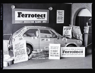 Negative: Car with Ferrotect Advertising