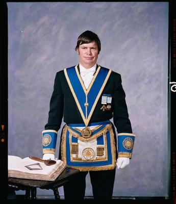 Negative: Mr Thomson Freemasons Portrait