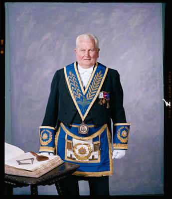 Negative: Unnamed Man Freemasons Portrait