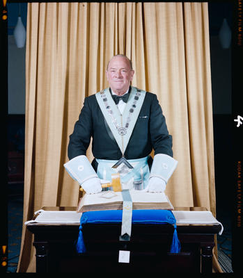Negative: Mr Hodge Freemasons Portrait