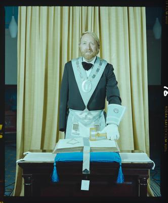 Negative: Mr Calderwood Freemasons Portrait