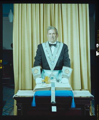 Negative: Mr D. P. Davidson Freemasons Portrait