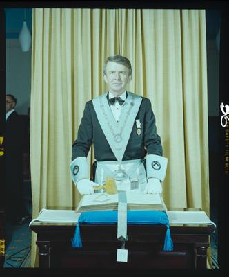 Negative: Mr Gordon Orlando Rowse, Freemasons Portrait