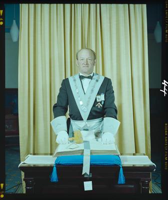 Negative: Mr Kerr Freemasons Portrait