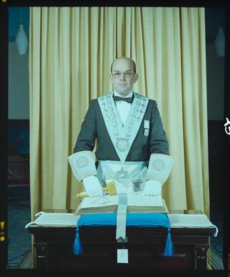 Negative: Mr Woodward Freemasons Portrait