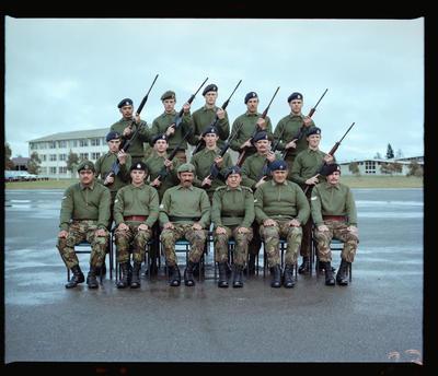 Negative: Burnham Camp Platoon Portrait