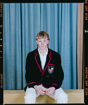 Negative: Unnamed Boy St Bede's 1st XI Cricket 1990