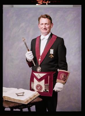 Negative: Mr L. A. Cations Freemason Portrait