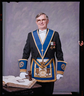 Negative: Mr D. M. Symon Freemason Portrait