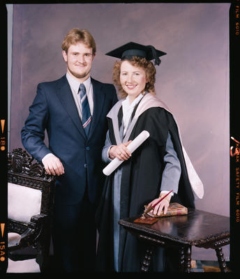 Negative: Miss O'Rourke Graduate and Unnamed Man