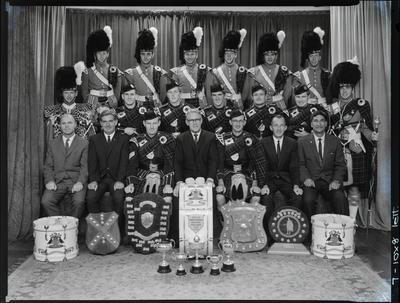 Negative: Christchurch Highland Pipe Band 1969