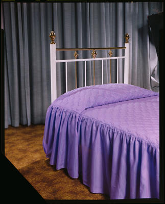 Negative: Sapphire Metalware Bed Ends