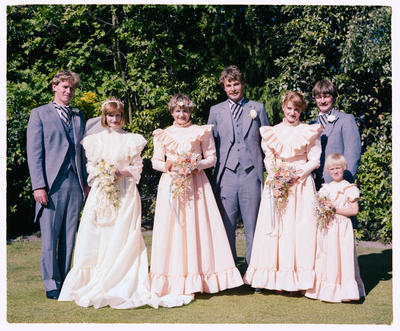 Negative: Stanley-Bishop Wedding; 20 Nov 1982; 2019.10.4613