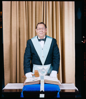 Negative: Mr J. W. Miles Freemason Portrait