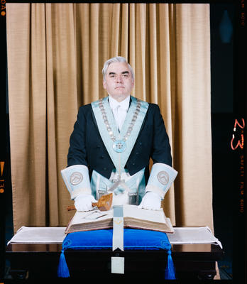 Negative: Mr N. C. McPherson Freemason Portrait