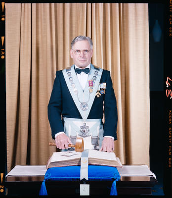 Negative: Mr G. G. C. Levett Freemason Portrait