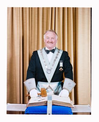Negative: Mr L. R. Berry Freemason Portrait