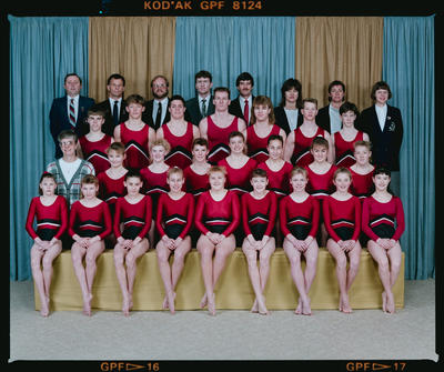 Negative: Canterbury Gym Association Senior Nationals Team 1990
