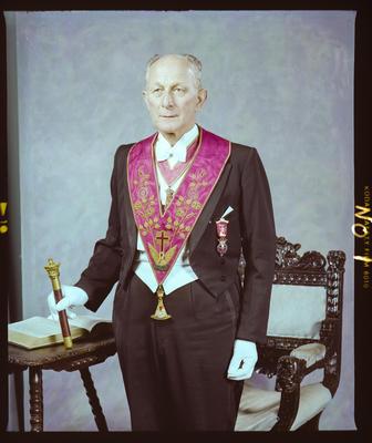 Negative: Mr Cyril Cotham Freemasons Portrait