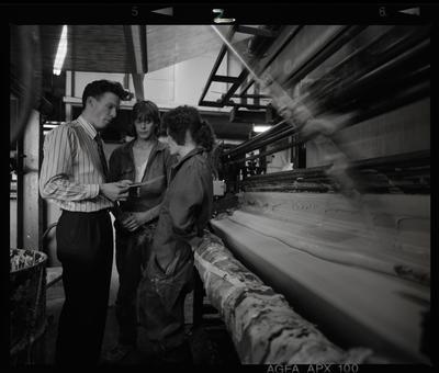 Negative: Three People Skellerup Factory