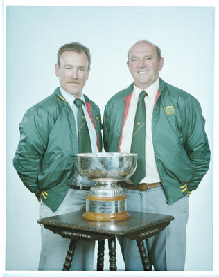 Negative: Messrs Lee and Rose With Trophy