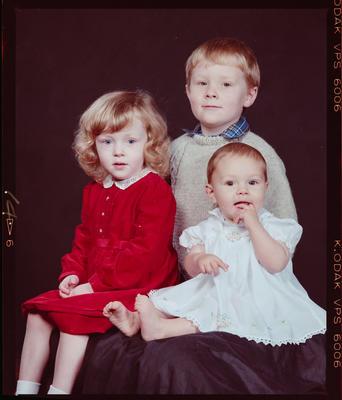Negative: Mrs Hall's Three Children