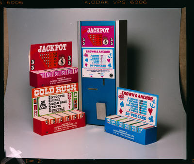 Negative: Jackpot Vending Machine and Cards