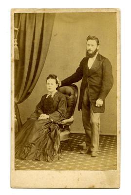 Carte-de-visite: Annie and James Smith