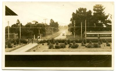 Photograph, Black and White: The view from the balcony of the Lovell-Smith home 'Midway' c 1921