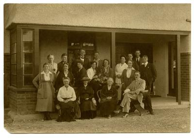 Photograph, Black and White: Lovell-Smith family group at Christmas 1921