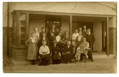 Photograph, Black and White: Lovell-Smith family group on at Christmas 1921
