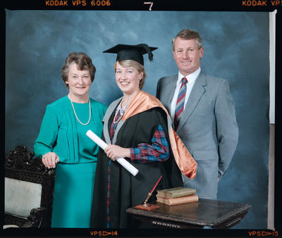 Negative: Miss L. Haines Graduate and Family