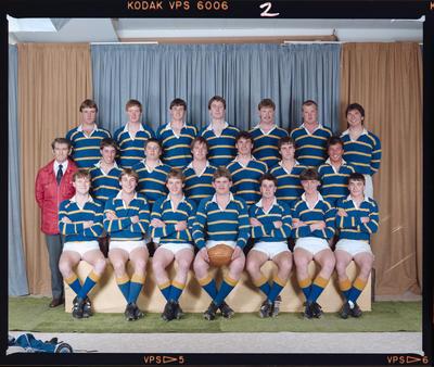 Negative: Lincoln College U1B Rugby Team 1986