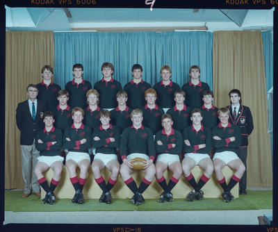 Negative: St Bede's 1st XV 1986 Rugby