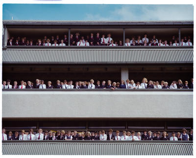 Negative: CGHS Students On Balconies