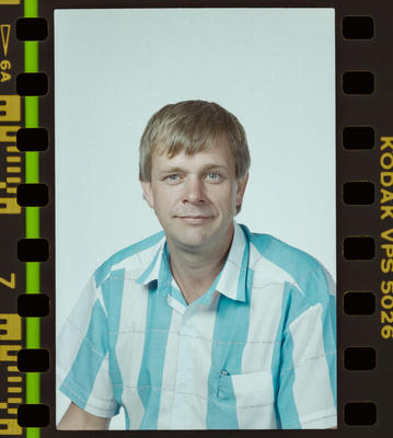 Negative: John Van Veen Passport Photo