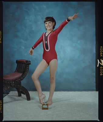 Negative: Sarah Hogg Gymnast Portrait