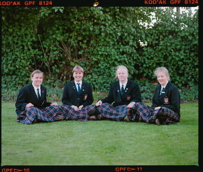 Negative: Four Girls Acland House CGHS 1990