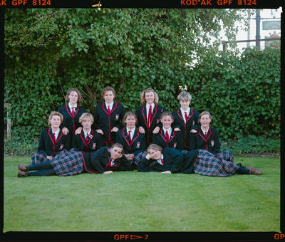 Negative: Eleven Girls Acland House CGHS 1990