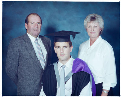 Negative: Mr Hogg Graduate and Family