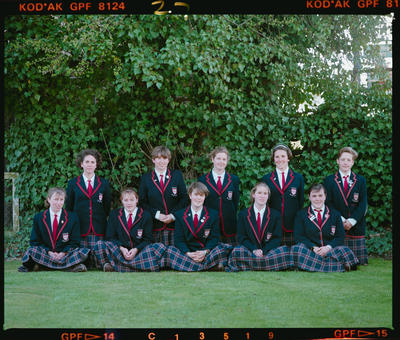 Negative: Ten Girls Acland House CGHS 1990