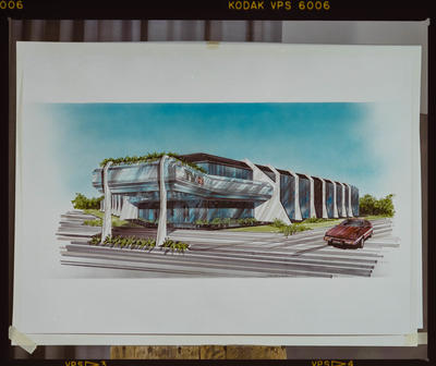 Negative: G.M. Designs TV3 Building Drawing
