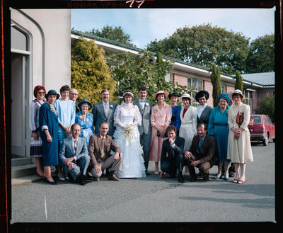 Negative: Donnell-Russell Bride, Groom, and Guests