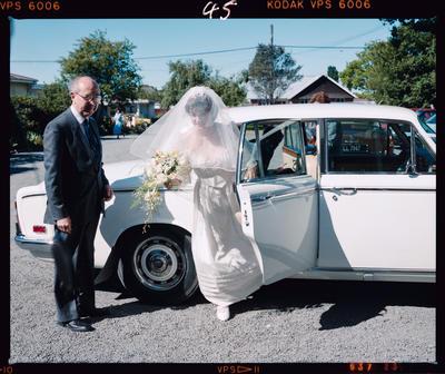 Negative: Clark-Brown Bride and Car