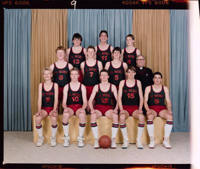 Negative: St Bede's Basketball 1987