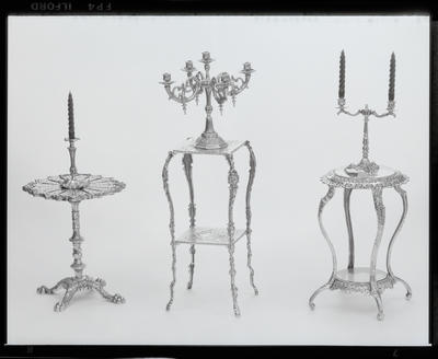 Negative: Wakefield Side Tables and Candlesticks