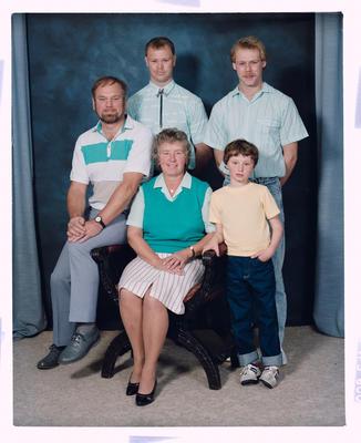 Negative: Robinson Family Portrait