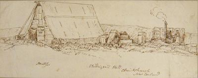 Sketch: Studding Sail Hall; 28 Jan 1851; 1949.29.5