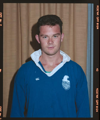 Negative: Clavens Rugby Union Unnamed Player 1990